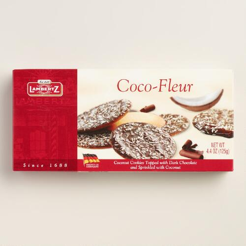 Lambertz Dark Chocolate Coconut Cocoa Fleur Cookie Box