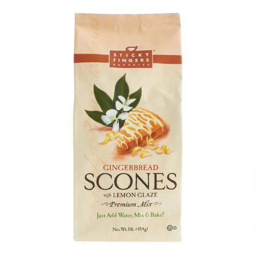 Sticky Fingers Bakeries Lemon Gingerbread Scone Mix Set of 6