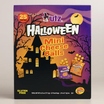 Utz Halloween Mini Cheese Balls, 25-Count