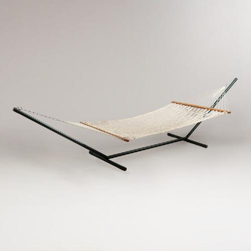 Rope Hammock and Steel Stand Set