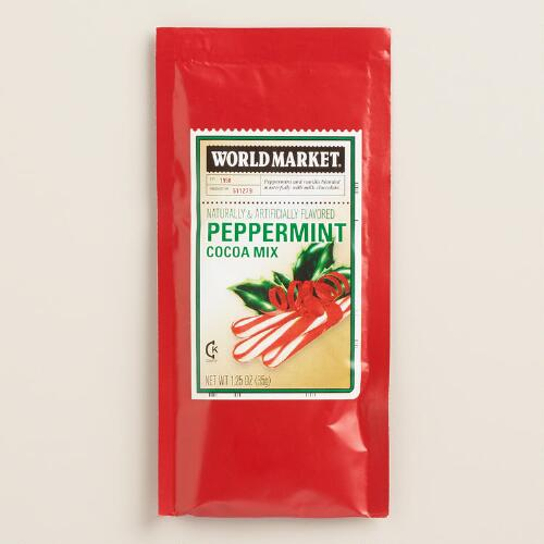 World Market® Peppermint Cocoa  Mix Packet, Set of 4