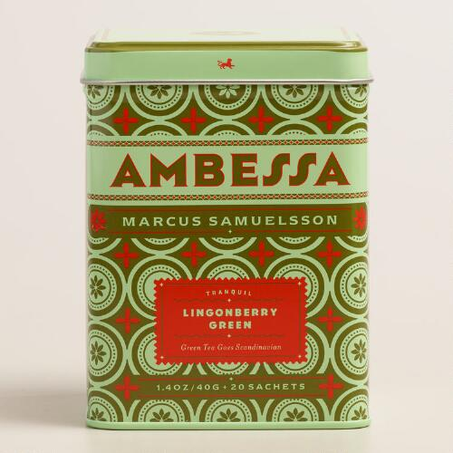 Ambessa Lingonberry Green Tea, 20-Count