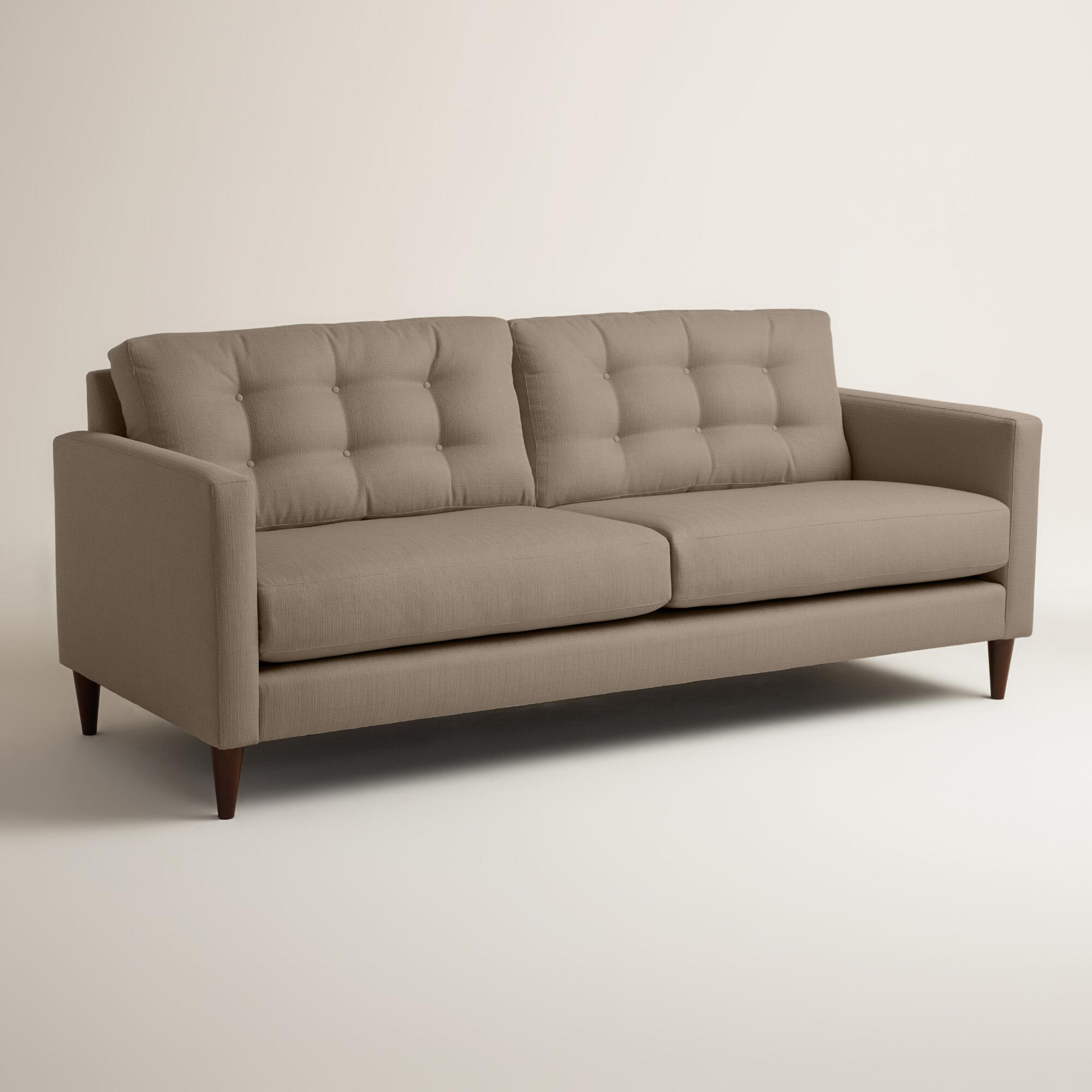 Textured Woven Ryker Upholstered Sofa World Market