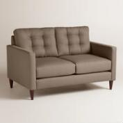 Textured Woven Ryker Upholstered Love Seat