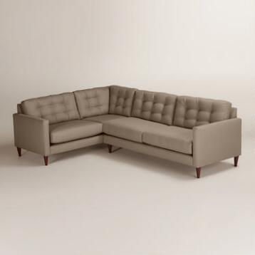 Textured Woven Ryker Right-Facing Upholstered Sectional
