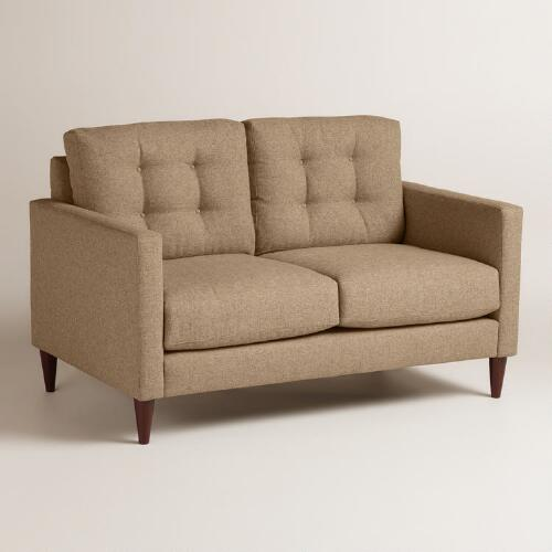 Chunky Woven Ryker Upholstered Love Seat
