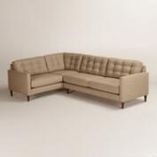 Chunky Woven Ryker Right-Facing Upholstered Sectional