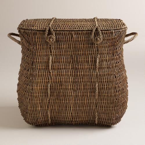 Natural Rattan Lucca Basket with Lid