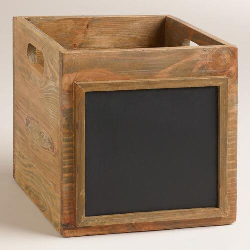 Wooden Owen Crate with Chalkboard