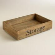 Wood Annie Rolling Storage Crate