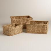 Natural Rectangular Samantha Storage Baskets