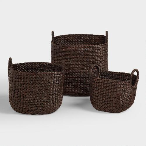 Espresso Aimee Arrow Baskets