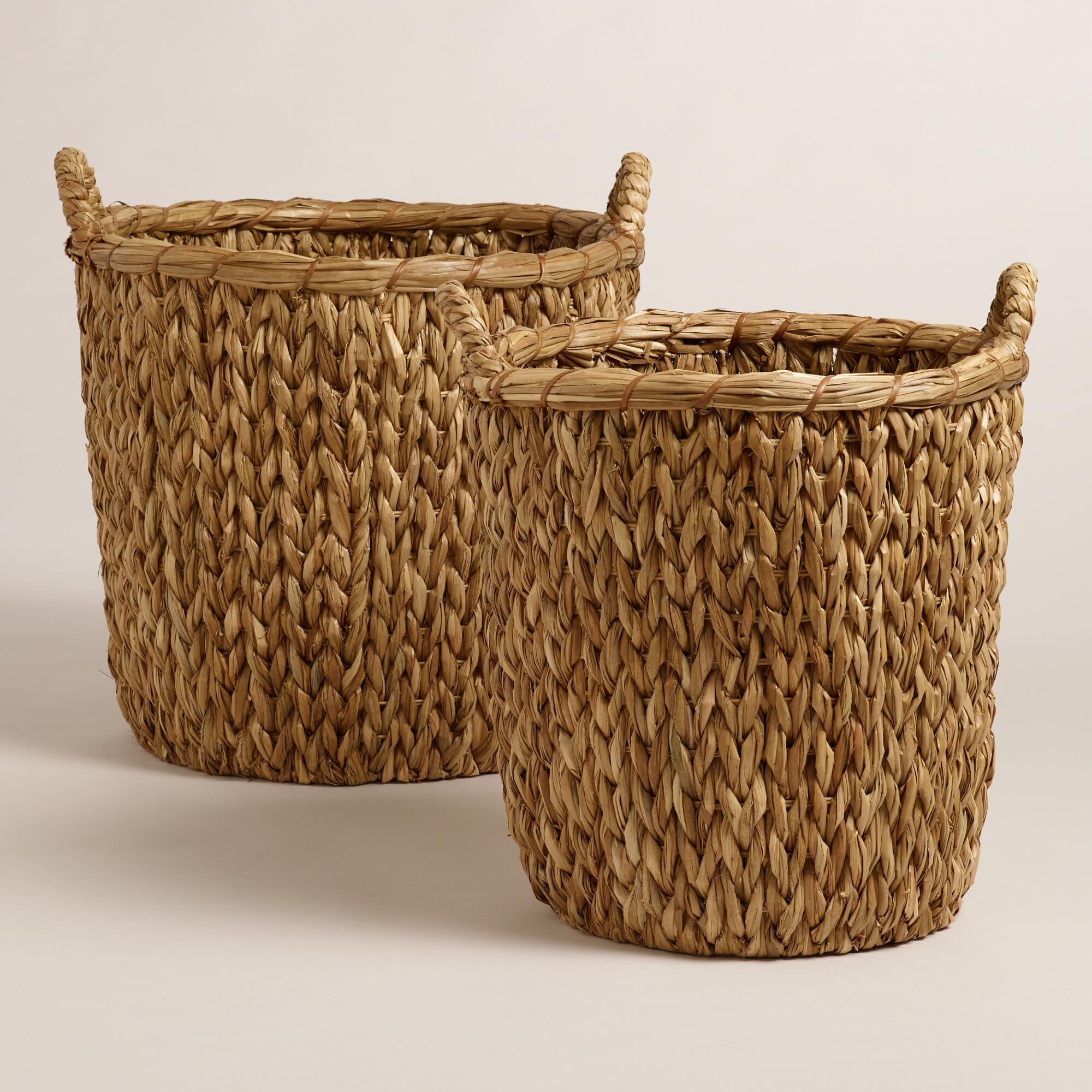 How To Weave A Hazel Basket : Natural sweater weave abbie baskets world market