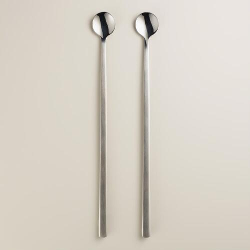 Stainless Steel Coffee and Tea Stirring Spoons, 2-Pack