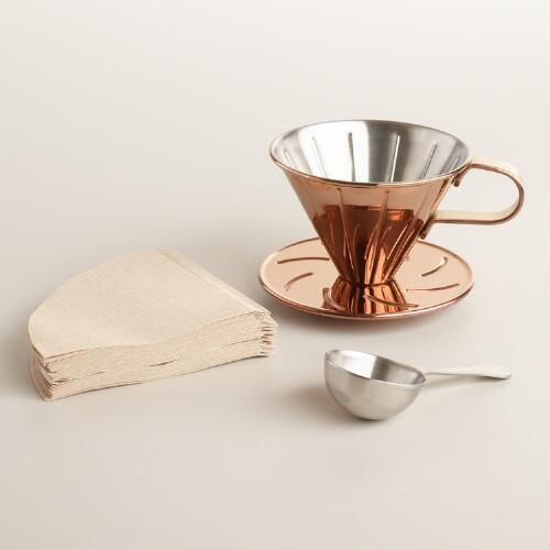 Copper Cone Drip Coffee Brewer
