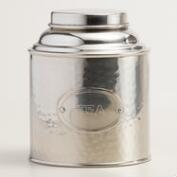 Hammered Stainless Steel Tea Tin