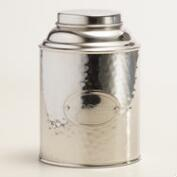 Hammered Stainless Steel Coffee Tin