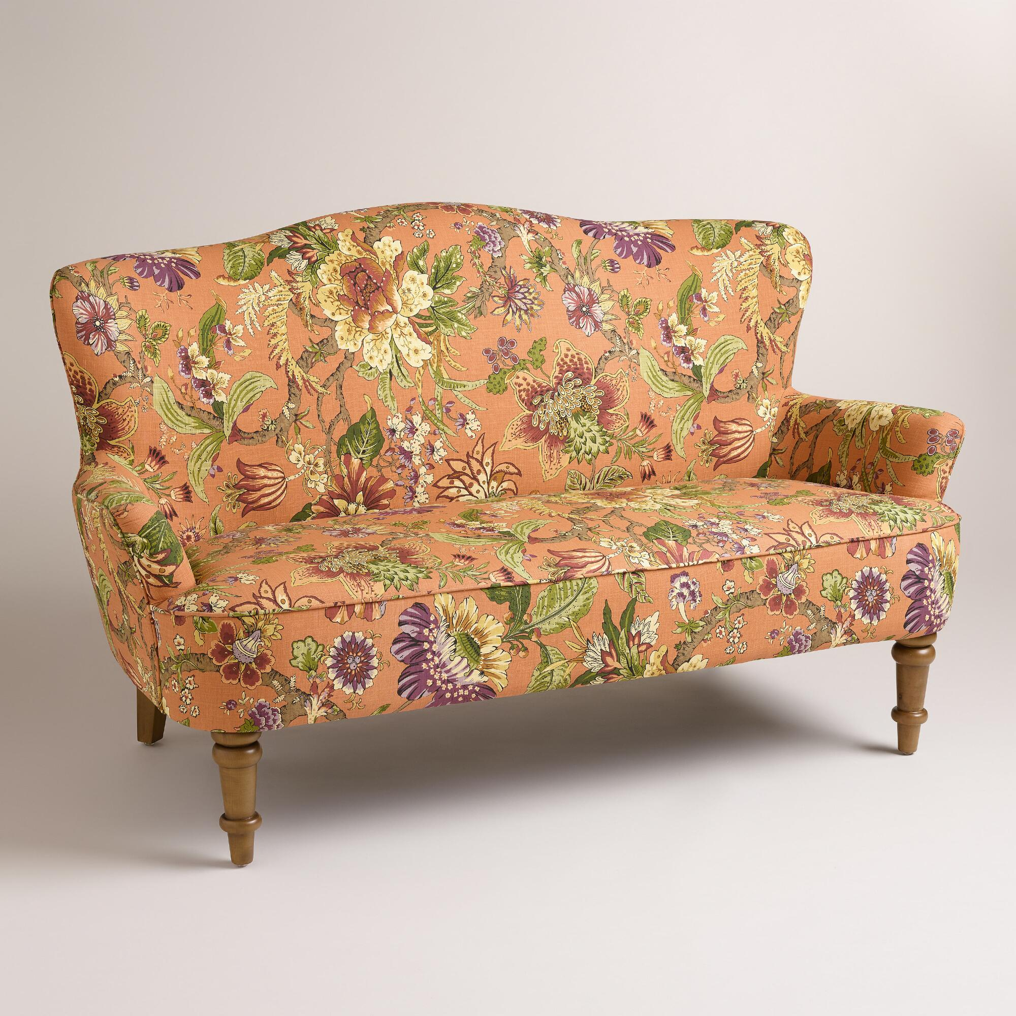 Garrison floral orlina loveseat world market Retro loveseats