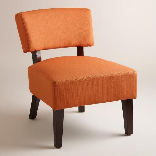 Saffron Orange Lucas Chair