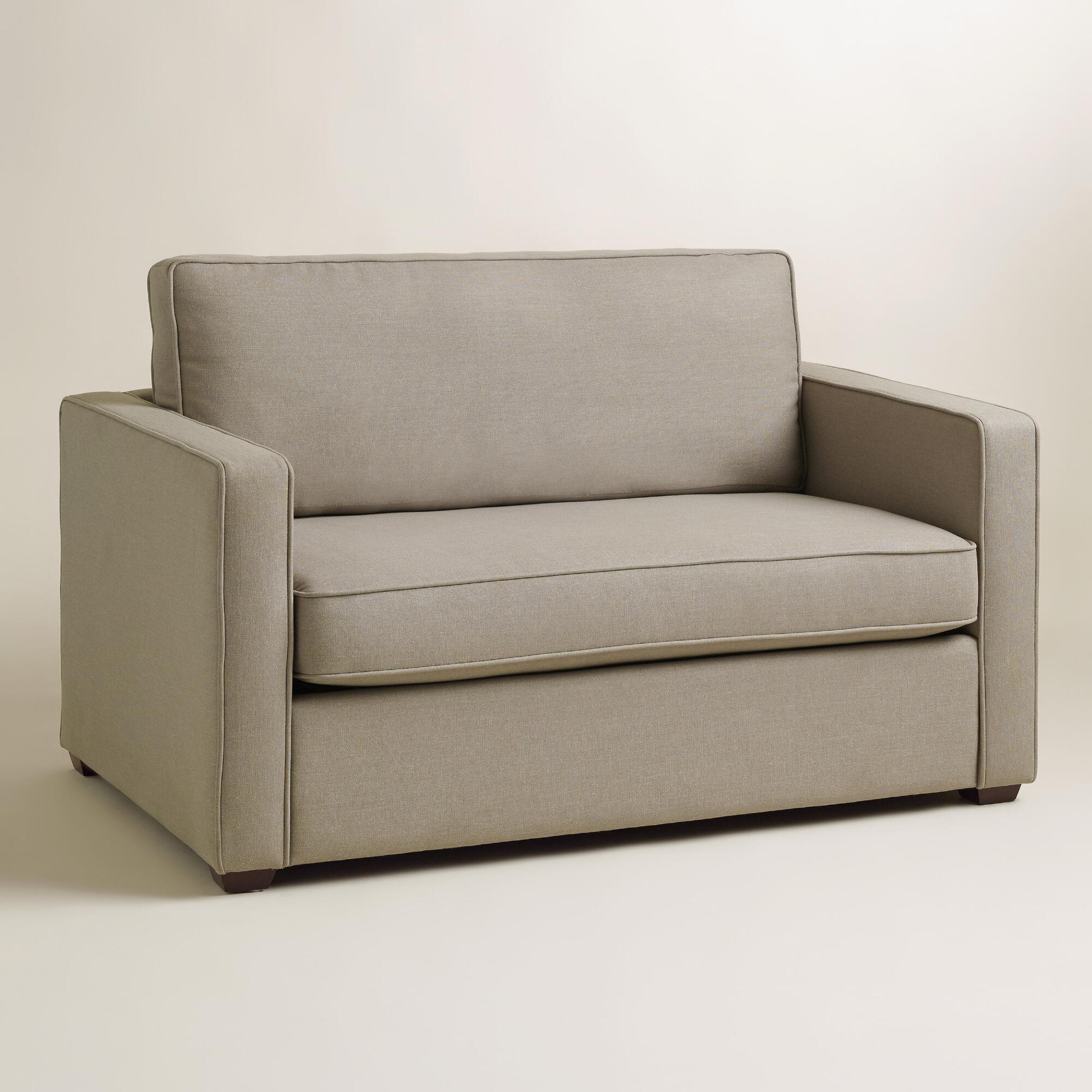 Pebble Gray Chad Chair And A Half Twin Sleeper World Market