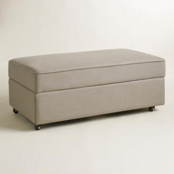 Pebble Gray Chad Storage Ottoman