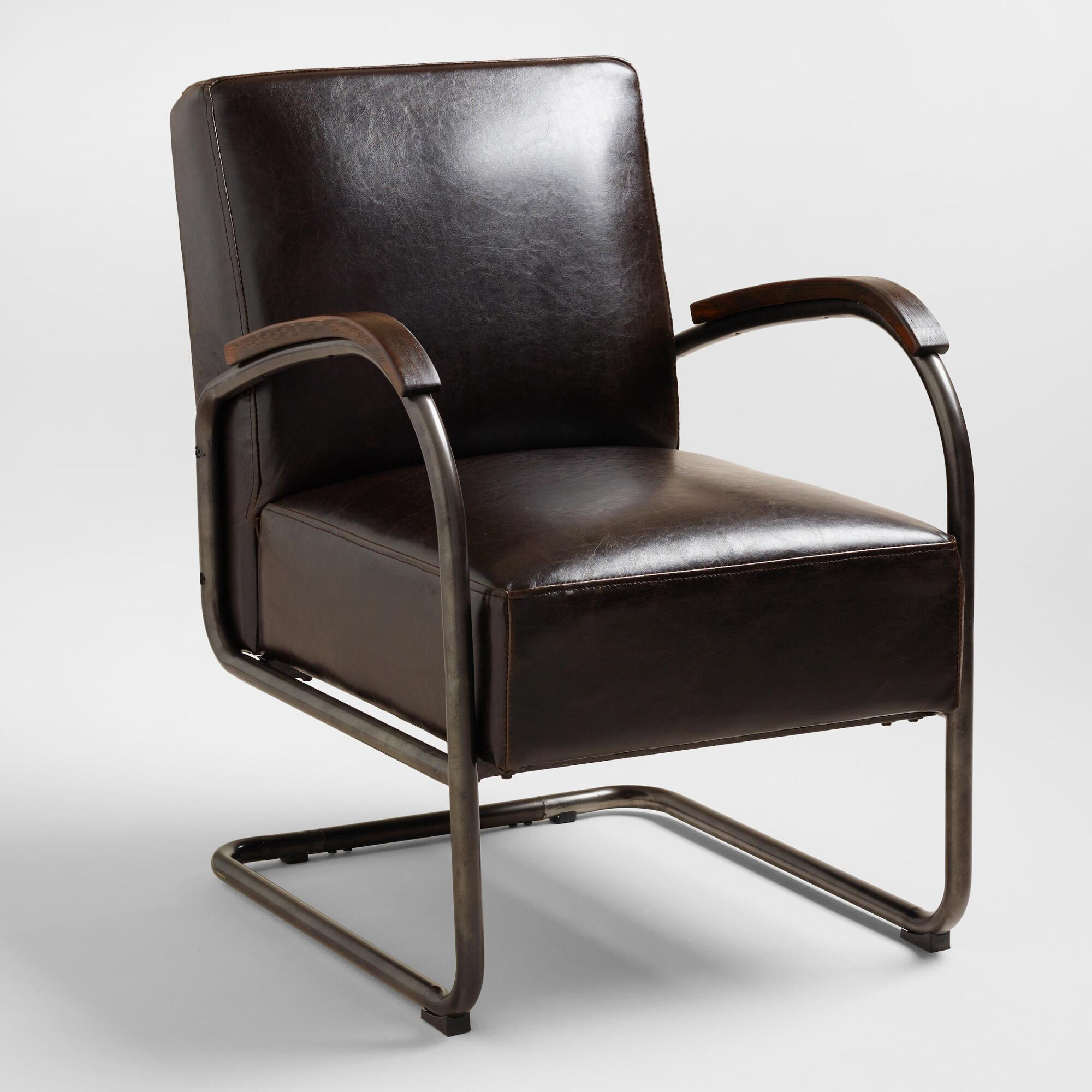 Bi Cast Leather Rhett Cantilever Chair World Market