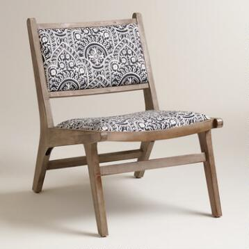 Moroccan and Stripe Print Tovin Chair