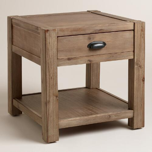 Wood Quade End Table