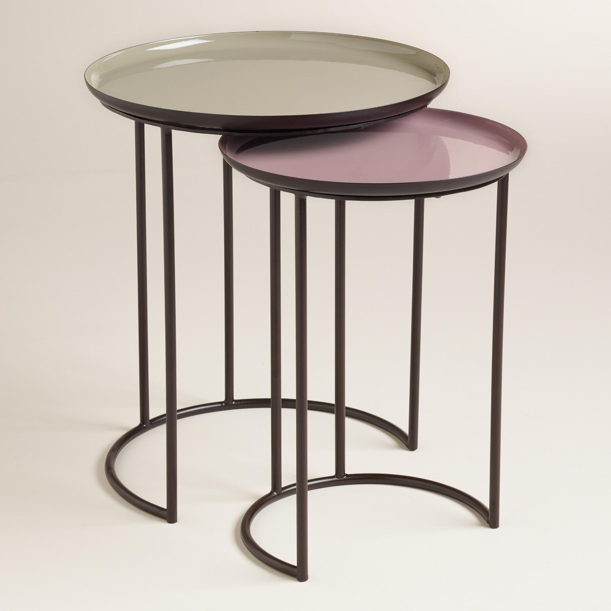 Pastel Side Table ~ Pastel priya nesting tables set of world market