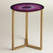 Amethyst Harbin Accent Table