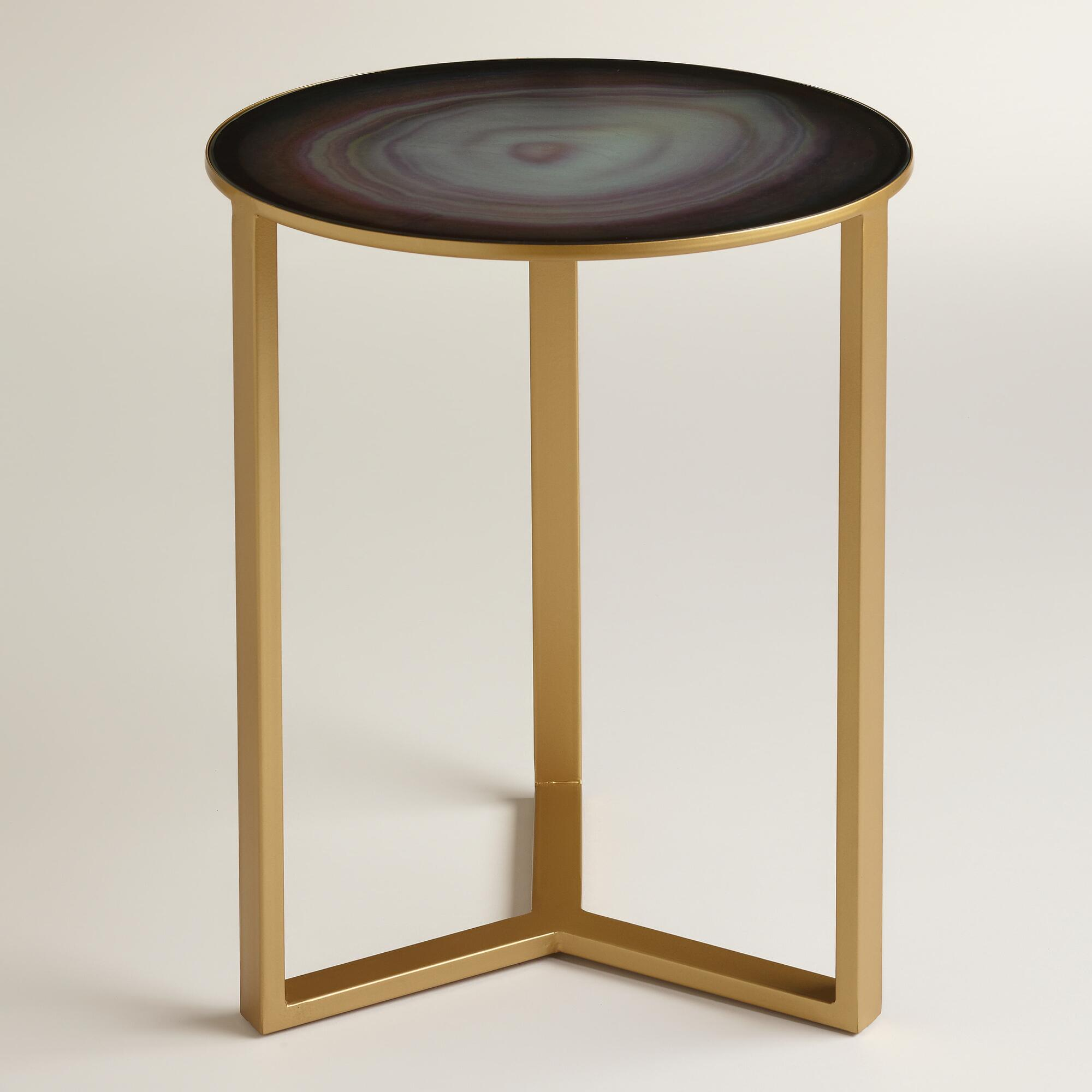 quartz harbin accent table world market. Black Bedroom Furniture Sets. Home Design Ideas