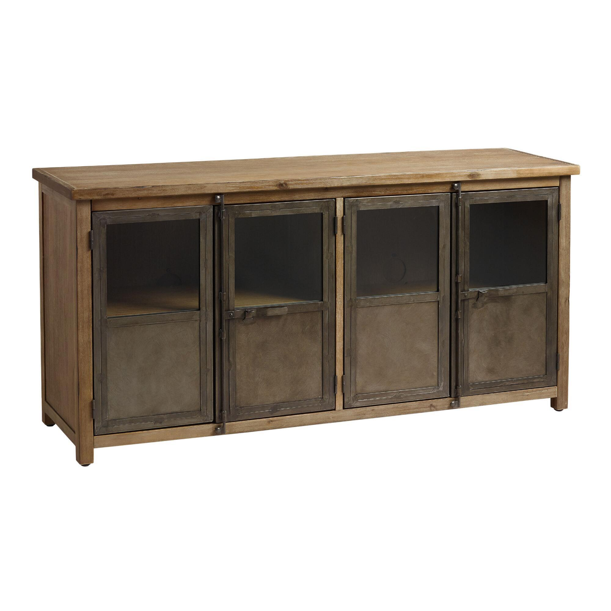 Langley storage cabinet world market - Sofa table with cabinets ...