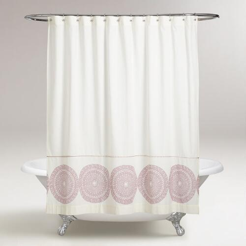 Lavender Lydia Medallion Shower Curtain