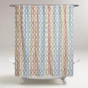 Multicolor Tessa Embroidered Shower Curtain