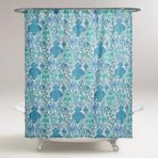 Blue Yvette Shower Curtain