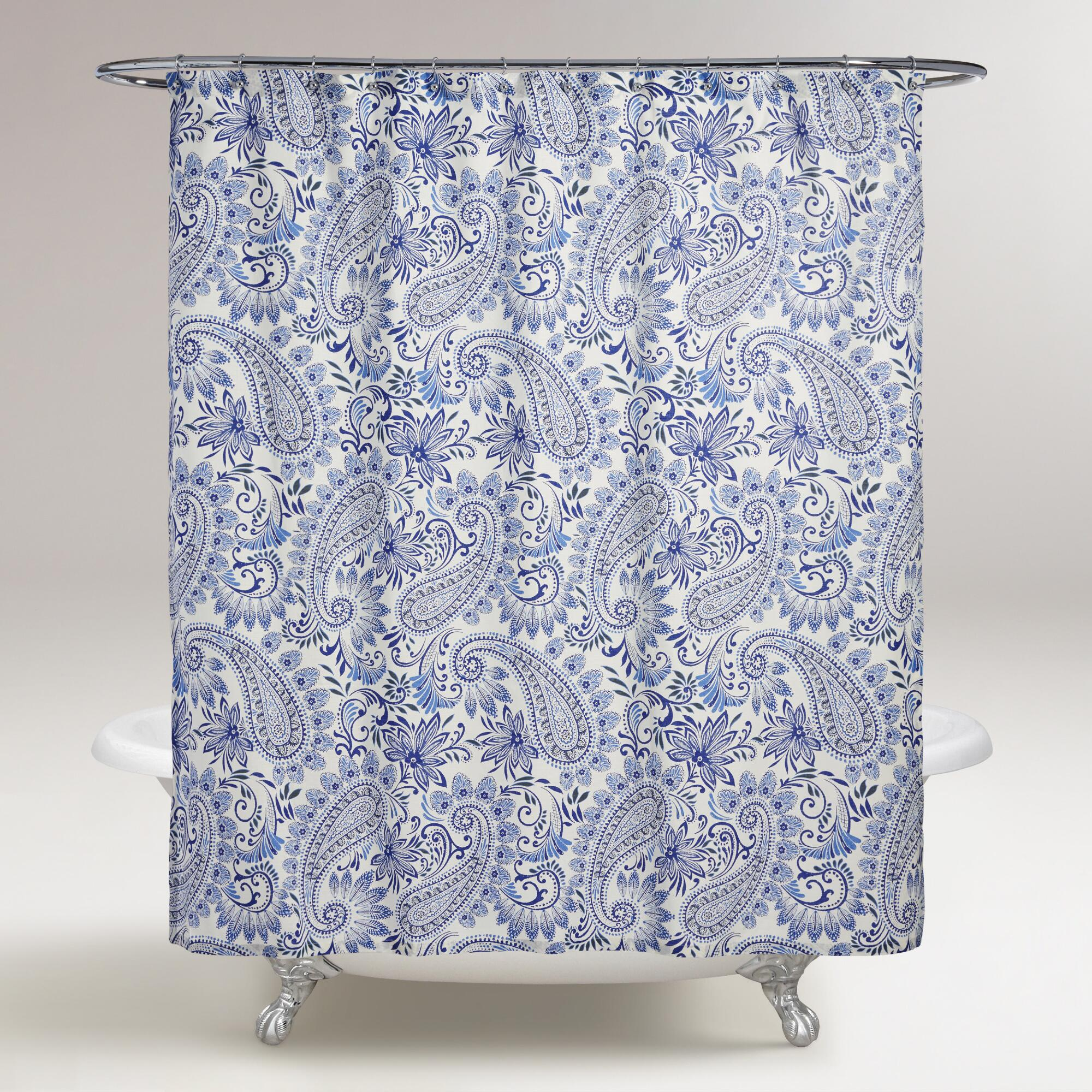 Blue Paisley Navodari Shower Curtain World Market
