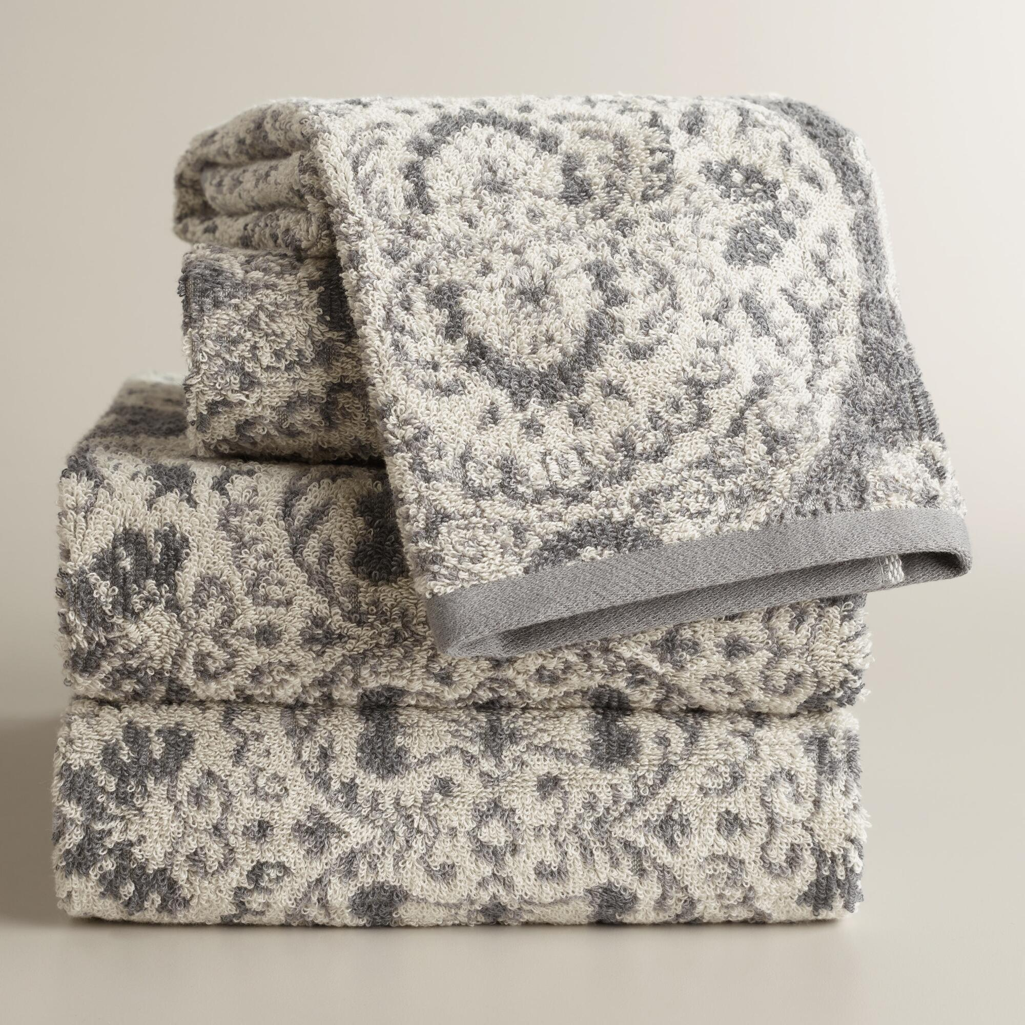 Jacquard Towels. Showing 40 of results that match your query. Search Product Result. Product - Zero Twist Jacquard 6-Piece Bath Towel Set - Denim. Product Image. Price $ Product Title. Zero Twist Jacquard 6-Piece Bath Towel Set - Denim. Product - Sanderson Fern Jacquard Cotton Bath Towel.