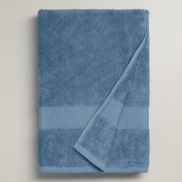 Mediterranean Blue Bath Towel