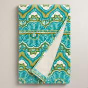 Sea Blue Clementine Printed Bath Towel