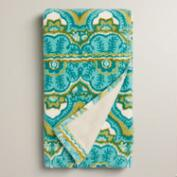 Sea Blue Clementine Printed Hand Towel
