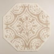 Ivory and Sand Mosaic Tile Bath Mat