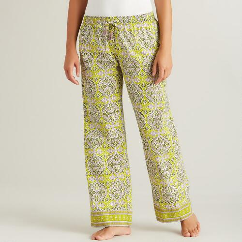 Green and Lavender Anika Pajama Pants