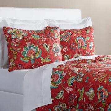 Coral Floral Natasha Bedding Collection