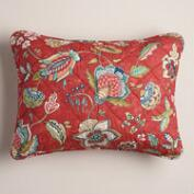 Coral Floral Natasha Pillow Shams, Set of 2
