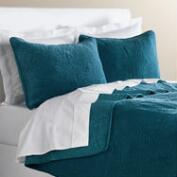 Midnight Blue Velvet Bedding Collection