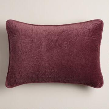 Plum Velvet Pillow Shams, Set of 2