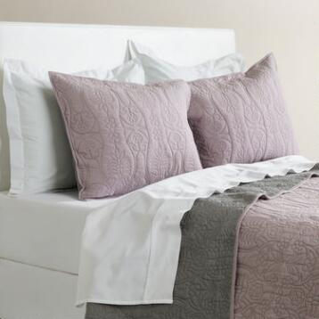 Lavender and Gray Simone Reversible Quilt