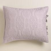 Lavender and Gray Simone Reversible Pillow Shams, Set of 2