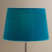 Majolica Blue Velvet Accent Lamp Shade