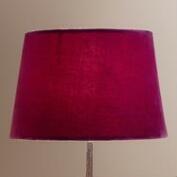 Plum Wine Velvet Accent Lamp Shade